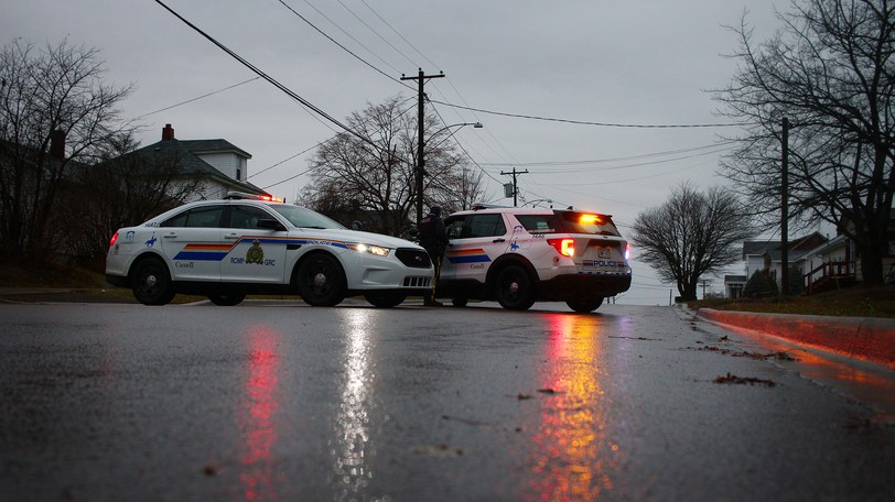 RCMP cruisers are seen in Moncton in this file photo from December, 2020.