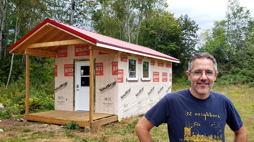 12 Neighbours Community Inc. founder Marcel LeBrun, see here in a file photo with a prototype tiny home, got final approval from Fredericton city council Tuesday night for his 96-tiny-home project on the north side.