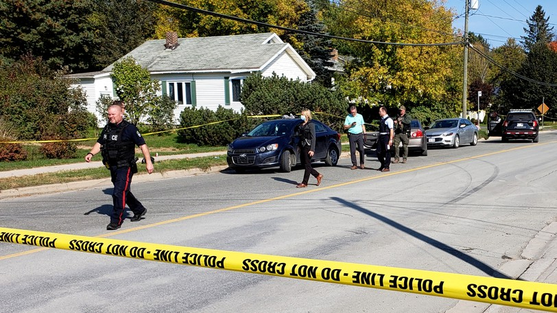 A 29-year-old Fredericton man was charged in court Wednesday with two counts of aggravated assault in connection with a double shooting in Marysville on Tuesday afternoon, the Fredericton Police Force says.