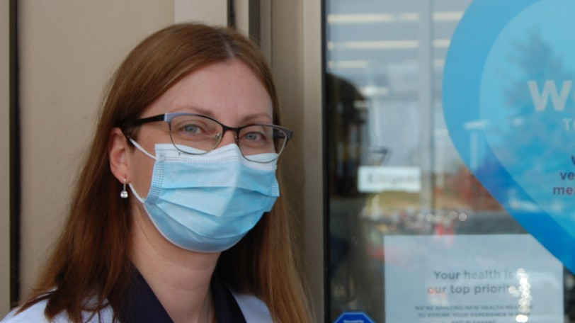 Sarah Lord, health and wellness coordinator at the Jean Coutu Pharmacy in Riverview, where she's pictured on Wednesday, Oct. 13, 2021, said people need a safe space to talk about their concerns related to COVID-19 vaccines.