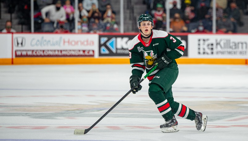 Riverview defenceman Dylan MacKinnon is a 16-year-old rookie with the QMJHL's Halifax Mooseheads.