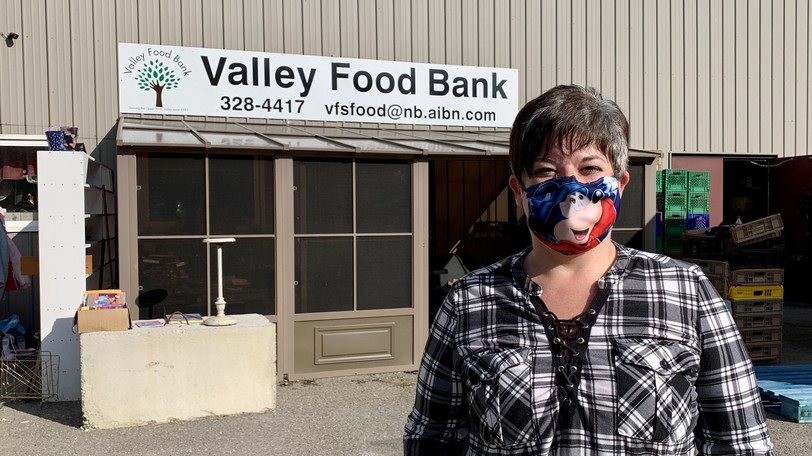 Monica Grant, executive director of the Valley Food Bank stands outside the Main Street location. The food bank is in the process of moving to a new location on Houlton Street at the former Global Textile building.