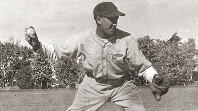 Fredericton's Manny McIntyre with the Middleton Cardinals of the Halifax & District League in 1946.