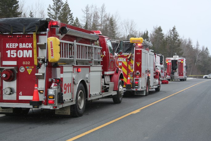 St. Stephen fire trucks are pictured here in this file photo.