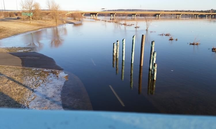 Flooding in Fredericton, as seen in this file photo, is difficult to predict this early in the year, officials warn.