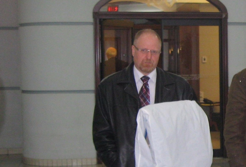 Yassin Choukri is pictured in this May 2011 photo at the federal courthouse in downtown Fredericton. The Law Society of New Brunswick disbarred him for misconduct, which included absconding with hundreds of thousands in client funds.