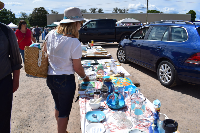 A patron browses the NBAAC Sussex Flea Market in 2017 in this file photo. The market has been canceled for a second year in a row due to the pandemic, according to a Facebook post, with the next edition tentatively scheduled for August 2022.