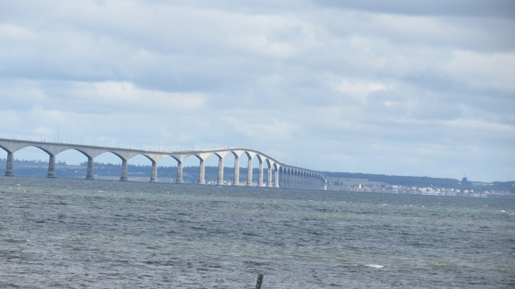 The Confederation Bridge as seen from Cape Jourimain.