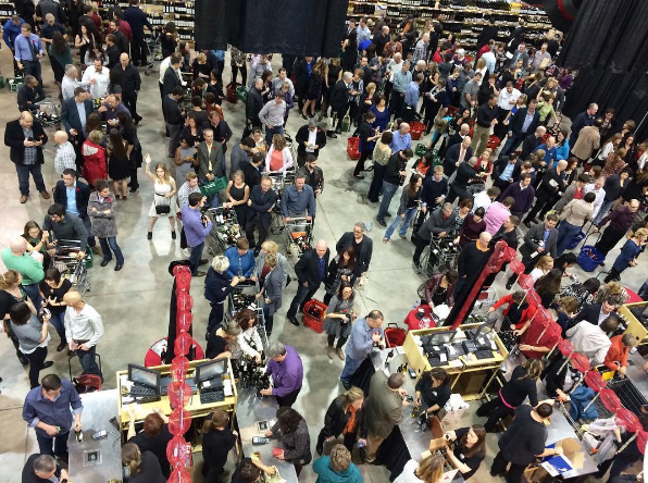 The crowd during the 2017 World Wine & Food Expo in Moncton.
