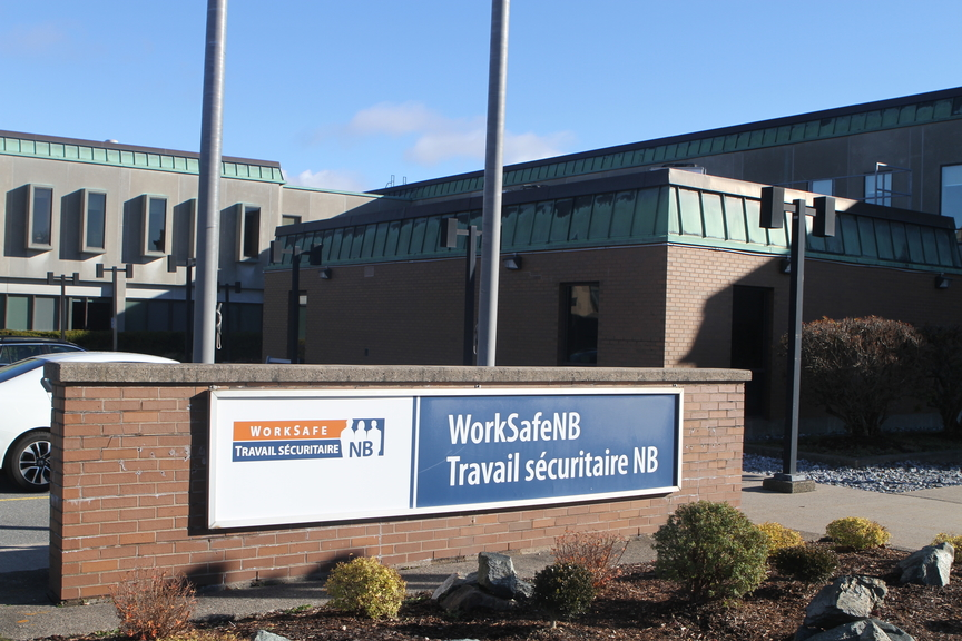 WorkSafeNB has confirmed a worker died on the job near Hartland on Oct. 6. The incident is under investigation. Pictured is WorkSafeNB's headquarters in Saint John.