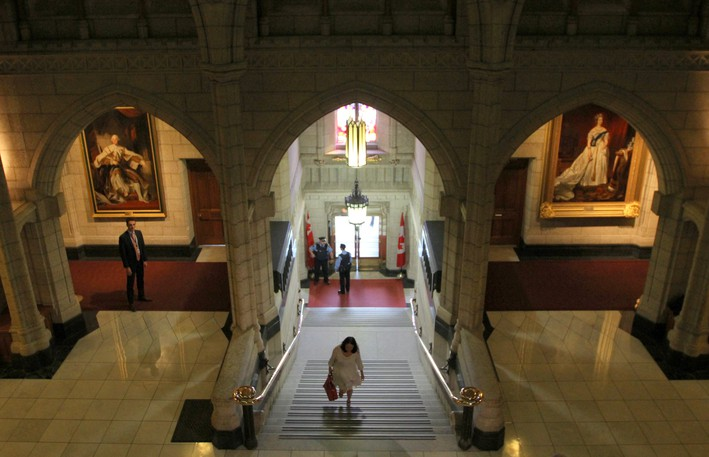 The Senate foyer in centre block is pictured in this file photo. Columnist Jason VandenBeukel writes that Senate reformers should not give up on pushing for further change to the upper house.