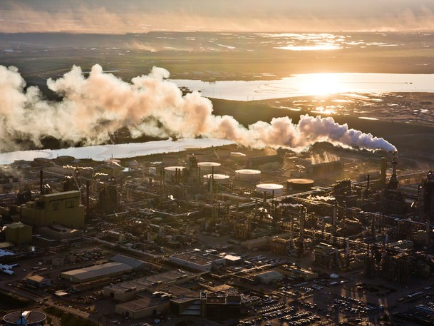 The Syncrude oilsands facility in Fort McMurray, Alta. Philip Cross writes that the 'open-pit mining technique that the media loves to picture next to all references to the oilsands' is no longer the predominant method of extraction in Canada.