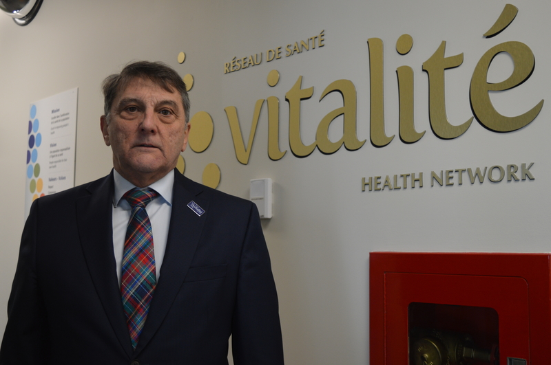Gilles Lanteigne, president and CEO of the Vitalité Health Network