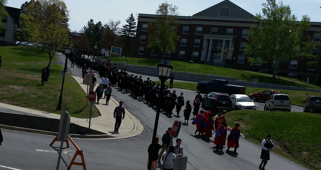 University of New Brunswick graduates at the Fredericton campus. When provincial universities reopen, it will be to a changed world of mixed in-person and online learning, writes Paul W. Bennett.