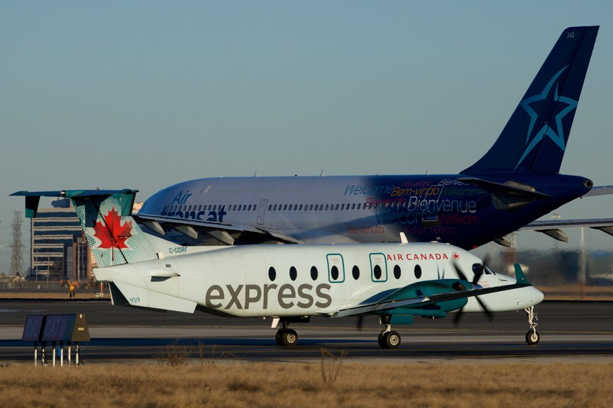 An Air Canada Express carrier.