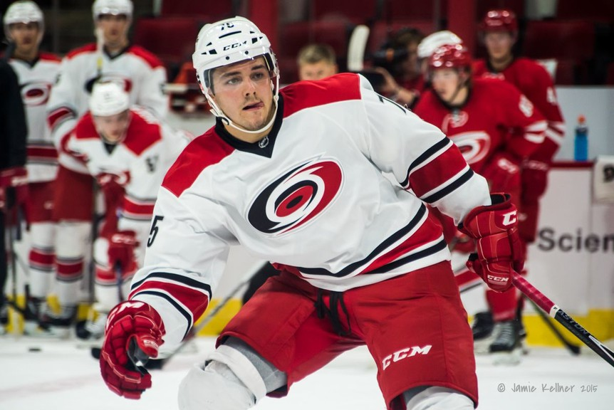 Spencer Smallman, a 2015 draft pick of the Carolina Hurricanes, had two goals and an assist in the Fort Wayne Komets' 6-2 win over the Wheeling Nailers in ECHL action Sunday.
