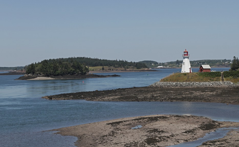The Mulholland Point lighthouse in Welshpool, Campobello Island.