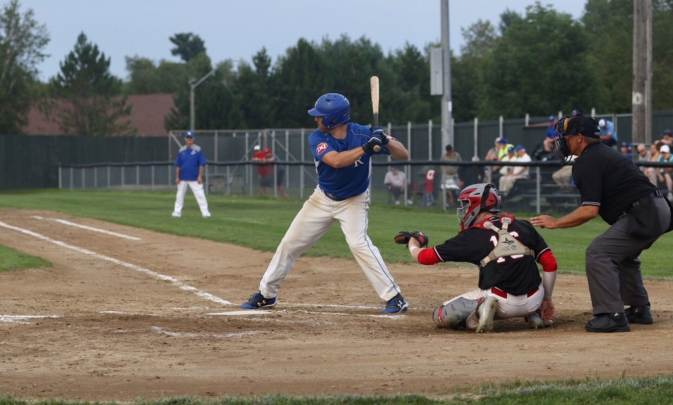 Mackenzie Washburn, shown here as a member of the Fredericton Royals senior team, drove in the only run as the Jack's Pizza Expos defeated the Fredericton 18U AAA Royals 1-0 in season opening play in the Capital City Intermediate Baseball League Tuesday.