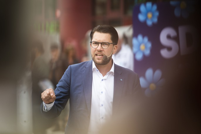 Sweden Democrats leader Jimmie Akesson links immigration, crime and the decline of the Swedish welfare state.
