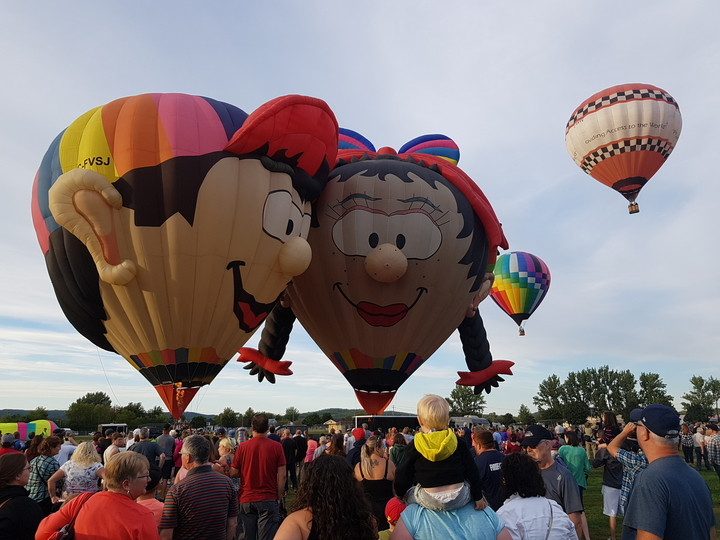 A previous edition of the Atlantic Balloon Fiesta is seen in this file photo. Despite the province's recently announced reopening plan, committee member Alannah Pearson said it is  too late to organize the September event for 2021.