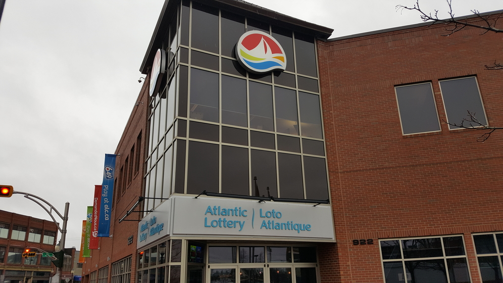 The Atlantic Lottery Corp. head office located on Main Street in Moncton.