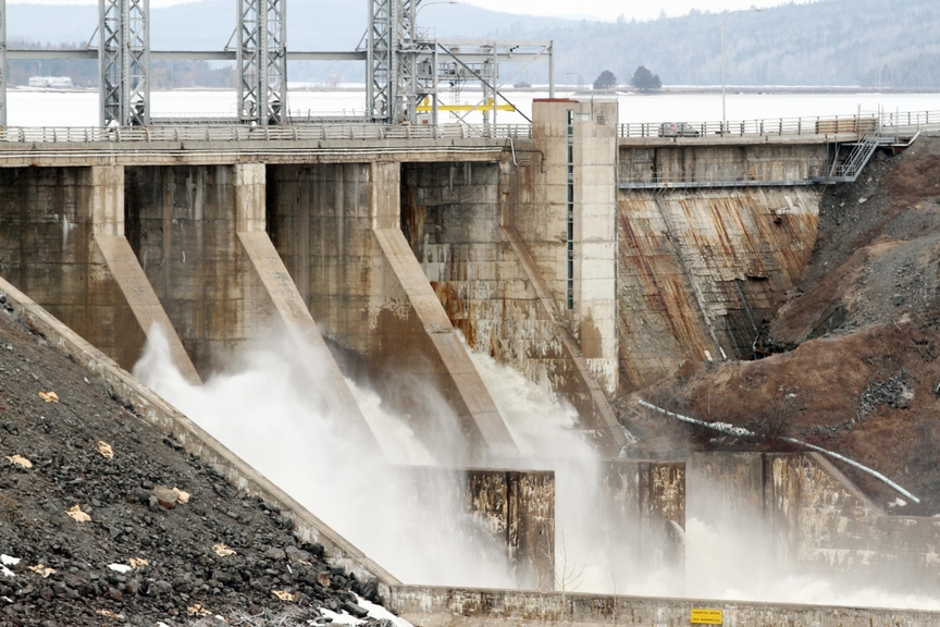 The Mactaquac Dam sees repairs each summer due to regulardamage that arises from a chemical reaction in the concrete.