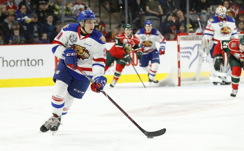 Moncton Wildcats centre Alexander Khovanov finished second in the QMJHL scoring                          race this past season with 99 points. The Russian was the second overall pick in the 2017 Canadian Hockey League Import Draft.