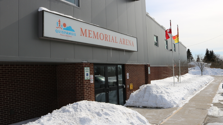 Quispamsis Memorial Arena. Residents have been forced to get their water from a tap outside the arena, and the town has a duty to ensure that the bacteria problems in the water are quickly resolved.