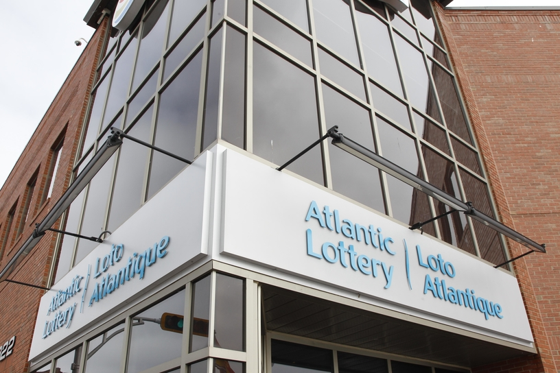 The Atlantic Lottery Corp. headquarters in downtown Moncton.