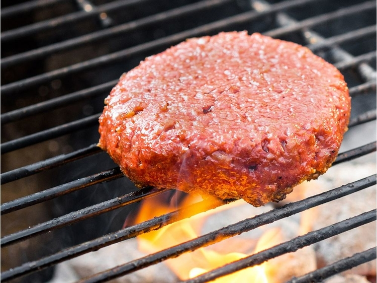 The Beyond Burger – the plant-based patty that cooks and looks like meat.