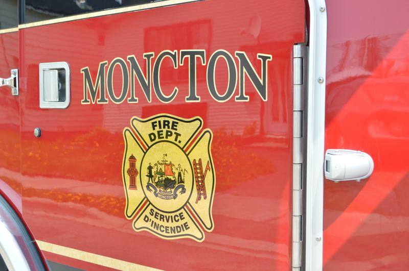 The Moncton Fire Department treated a girl in Moncton Wednesday night for minor burns in a fireworks incident.