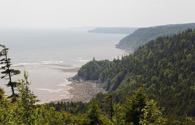 The Fundy Trail Parkway is nearing total completion, with a recently opened section of road connecting the parkway to Sussex.