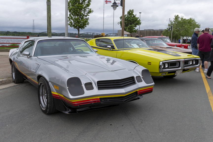 A row of classic American muscle is seen during the 2019 Golden Oldies Car Show in Miramichi. In Sussex, the Atlantic Balloon Fiesta Car Show and Shine is a go for September 12, though the full festival remains canceled for the year.