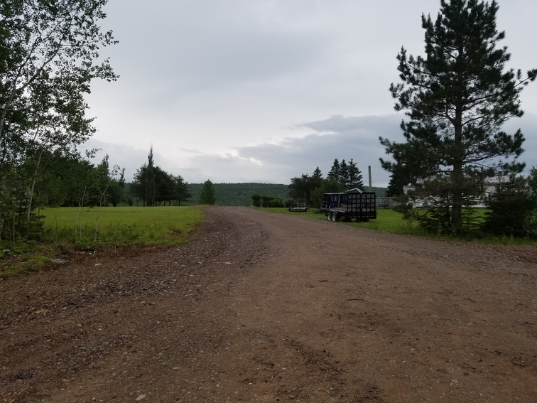 The proposed location of a cannabis facility sits between two residential properties on Picadilly Road, as seen in this file photo. The project appears stalled a year after residents in the area raised concerns over the project, with building permits yet to be requested or issued. FattyLeaf Farms co-owner Deon Alcock declined to comment.