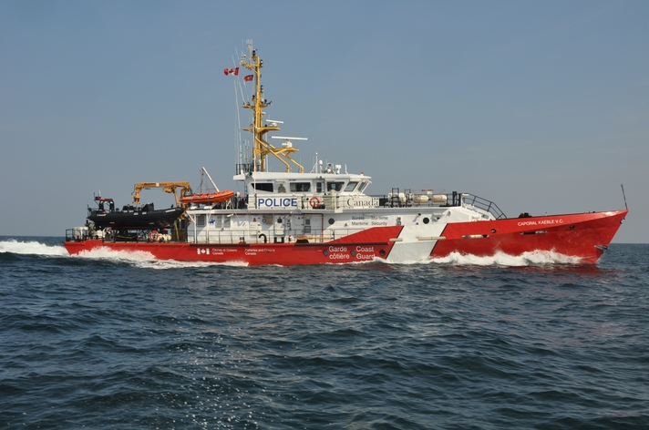 The Canadian Coast Guard Ship Cpl. Kaebleis shown in this file photo.