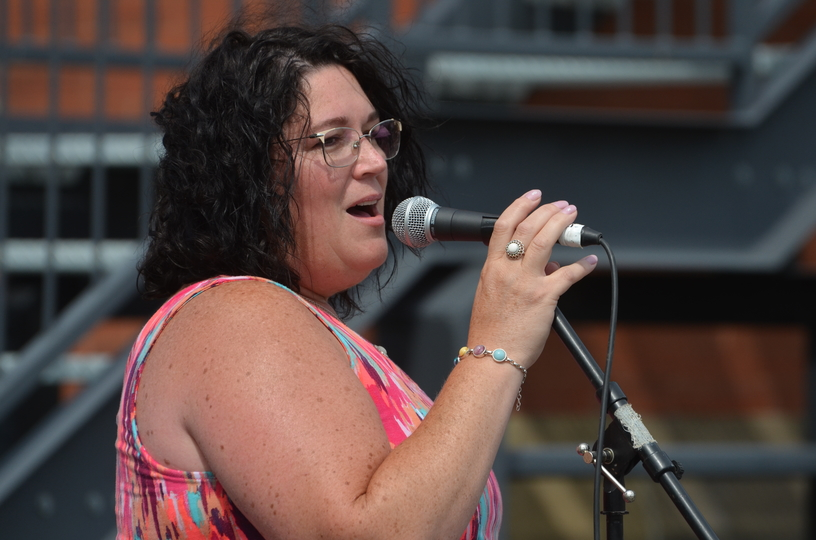 Hartland Deputy Mayor Tracey Demerchant sings Coat of Many Colours during a gospel concert as part of the Hartland Potato Festival in this file photo. DeMerchantannounced she will be running for Hartland mayor in May's municipal election.