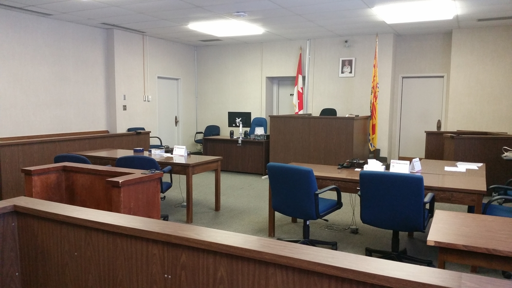 Provincial court No. 1 in the Justice Building in Fredericton.