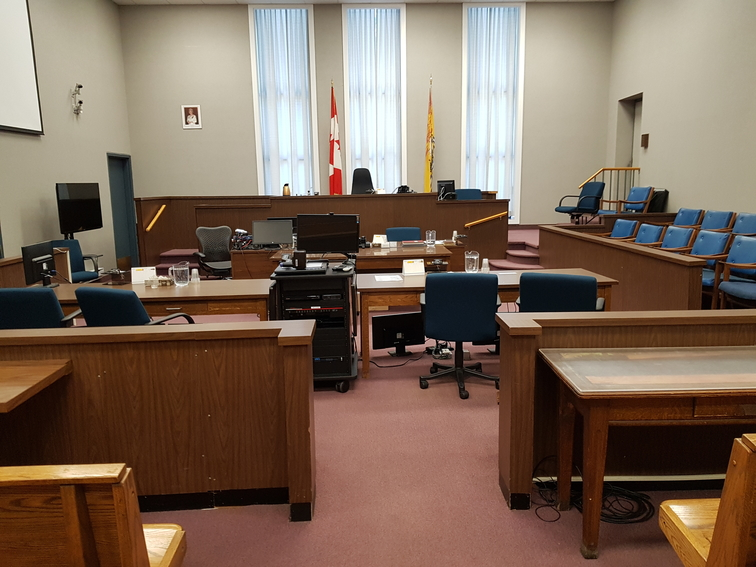 Courtroom No. 5 in the Justice Building in downtown Fredericton.