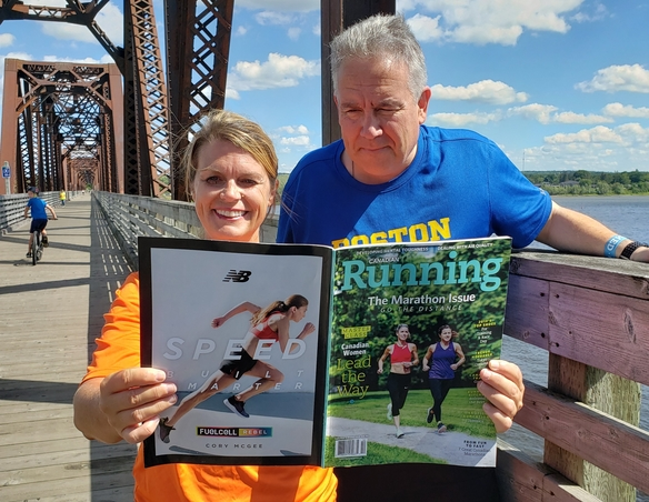 Fredericton Marathon co-chairs Christine Little and Bruce Macfarlane, shown in this file photo, are excited to lift the restrictions on the 2021 event, set to run Sept. 3-5.