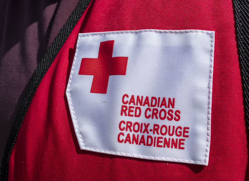 The Canadian Red Cross provided emergency lodging, food and other supplies to people involved in a Dieppe apartment building fire on Saturday.
