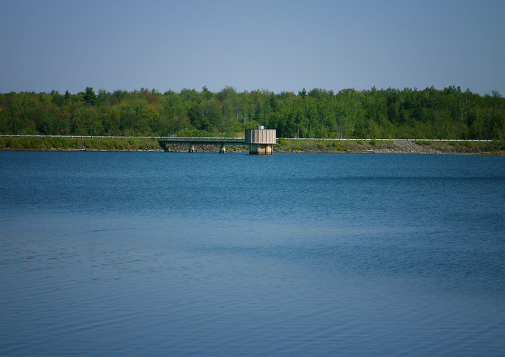 The shore of the Turtle Creek reservoir, part of Metro Moncton's water supply, located south of the city.