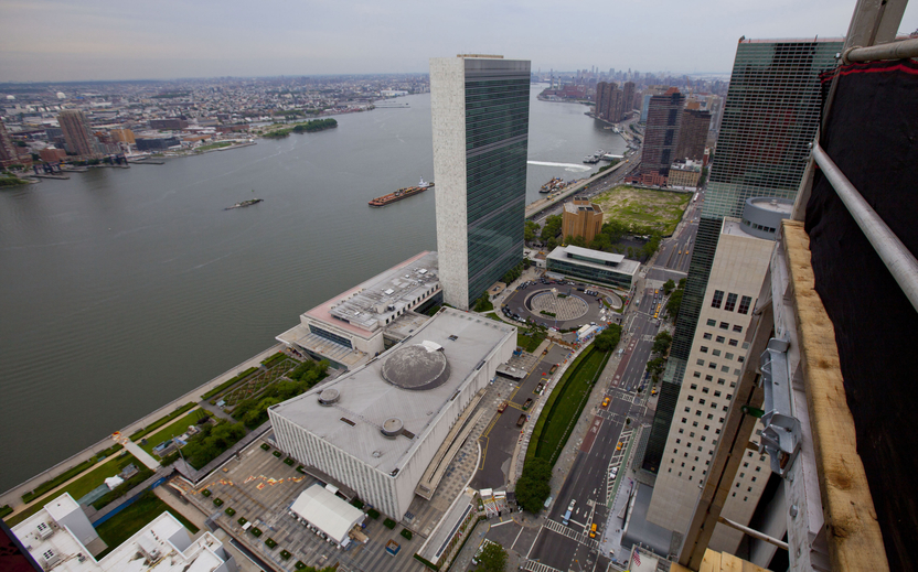 The United Nations headquarters in New York is pictured here. Canada's failed attempt to win a seat on the United Nations Security Council was the second such loss in a row.