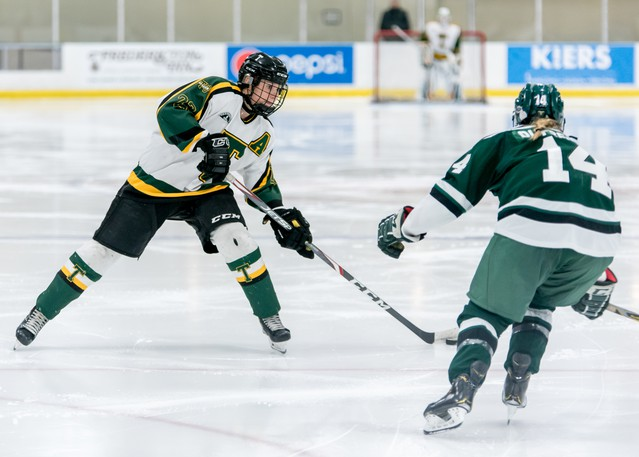 STU defender Alex Woods, shown in this file photo, and the Tommies will host the UPEI Panthers in AUS women's hockey conference exhibition play Saturday at 3 p.m. at the Grant-Harvey Centre.