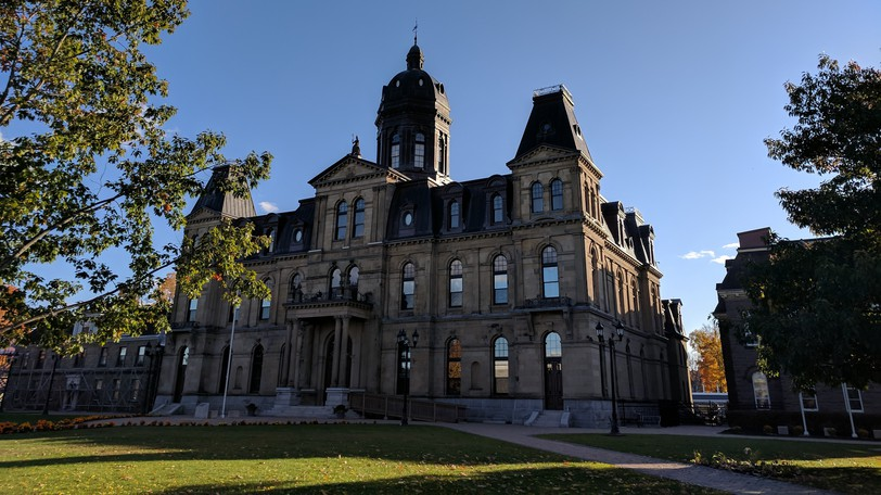 The Legislative Assembly of New Brunswick in Fredericton is pictured.