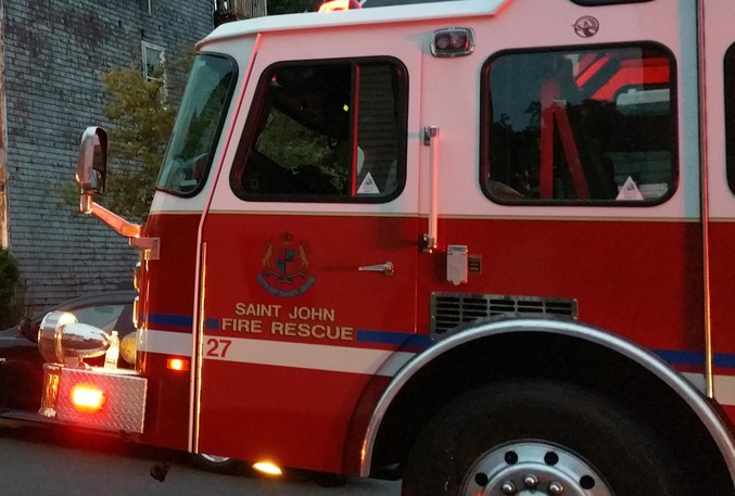 Saint John firefighters responded to a two-storey building fire in West Saint John on Sunday.