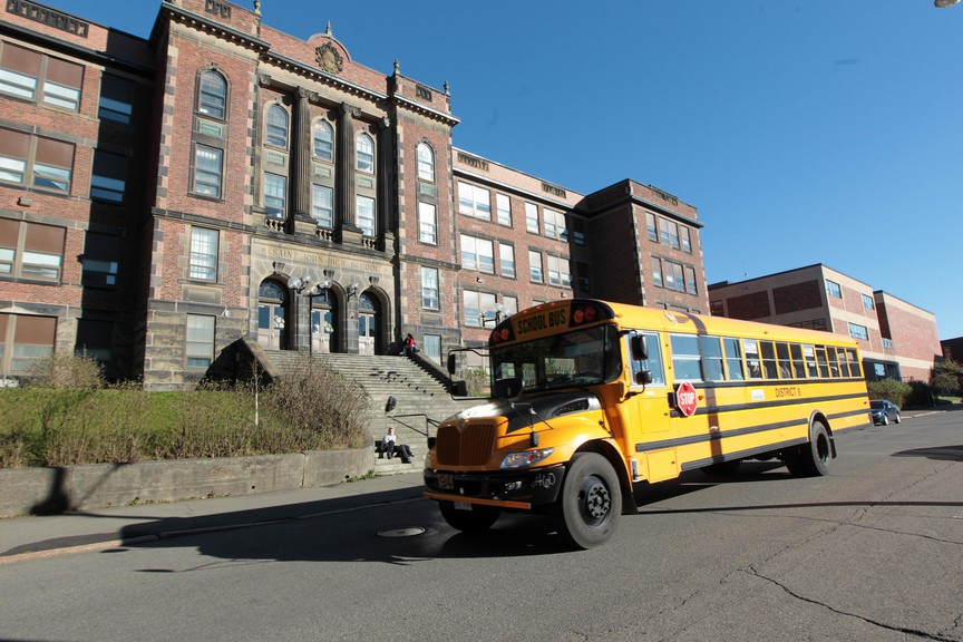 Saint John High School is pictured in a file photo. Paul W. Bennett reviews four instances of the government's failure to be adequately transparent with New Brunswickers.