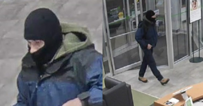 RCMP released these photos of the man suspected of robbing TD bank in Dieppe on Nov. 15, 2019.
