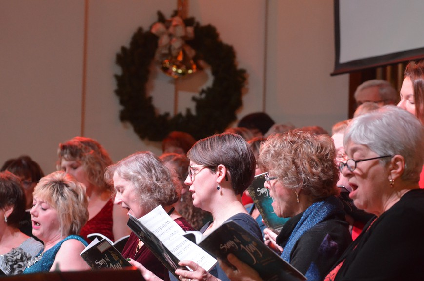In this file photo, The Woodstock Baptist Church Christmas Choir performs a song during the church's production of Song of Joy. For 2020, the church is switching to an outdoor drive-thru living nativity.