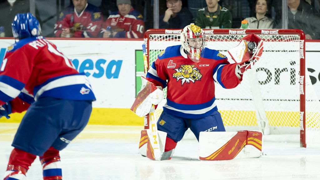 Moncton Wildcats goaltender Dakota Lund-Cornish made 30 saves and was named third star in a 4-1 loss to the Charlottetown Islanders in QMJHL action on Saturday night at the Eastlink Centre.