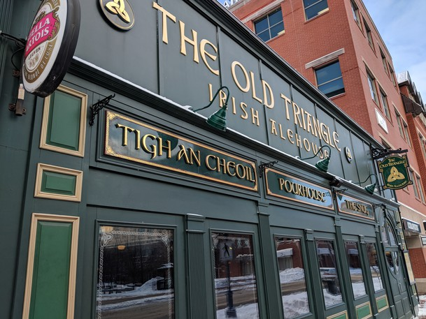 The Old Triangle Irish Alehouse on Main Street in Moncton is pictured in this file photo.